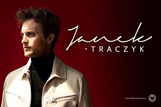 Baner promujący koncert Janka Traczyka w Lublinie