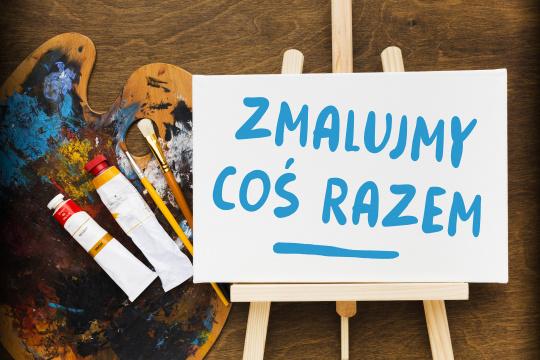 Baner promujący zapisy na warsztaty malarskie