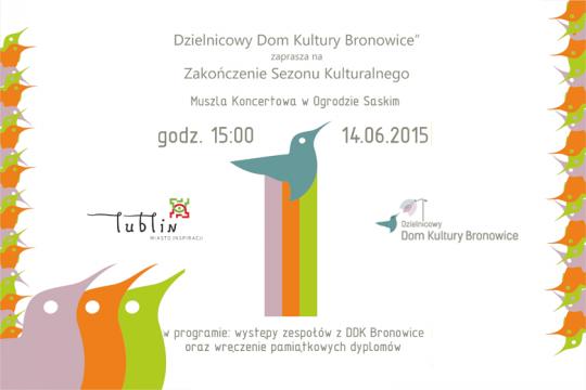 Zakończenie Sezonu Kulturalnego 2014/2015 - 14.06.2015