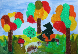 Wystawa prac plastycznych dzieci z Przedszkola nr 32 w Lublinie