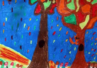 """XI wystawa prac plastycznych uczniów I etapu edukacji SP nr 32 z Oddziałami Integracyjnymi im. Pamięci Majdanka w Lublinie pt. """"Czym nas jesień obdarowała"""""""