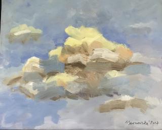 """Wystawa malarstwa pt. """"Trzy spojrzenia na niebo"""""""